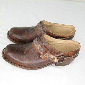 Bed Stu Triad Clogs Sz 10 Brown Leather Slip On